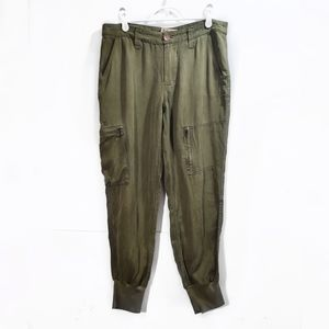 Babakul Army Green Mid Rise Jogger Cargo Pants 27